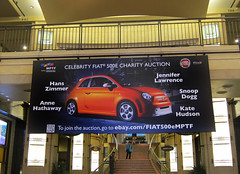 Retail, Fiat at Hollywood and Highland, Stretched Vinyl Banner on Custom Wood Frame