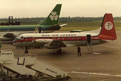 G-ASPL HS.748 Dan Air (eigjb) Tags: ireland dublin london dan june digital plane airplane airport image aircraft aviation air scan pre 1980 spotting airliner hawker turboprop danair avro siddeley hs748 collinstown eidw gaspl 150680