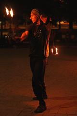 Nacin de Fuego. (carolinadagach) Tags: chile street santiago people night america de fire calle gente south carolina museo fuego artes botero avila caballero bellas 2014 malabarismo nacion dagach