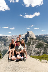 Family Photo in front of Half Dome (Carl's Photography) Tags: family blue tripod danielle carl becky brent halfdome natalie yosemitenationalpark f80 glacierpoint sigma1020mm iso160 carlchristensen sigma1020mmf456exdchsm 1400sec d7000 1400secatf80 nikond7000 beckythomassonchristensen brentchristensen nataliechristensen reallyrightstufftripodandballhead 2013zionyosemite