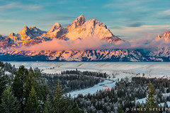 Gentle Morning (James Neeley) Tags: mountains sunrise grandtetons tetons gtnp jamesneeley f2014