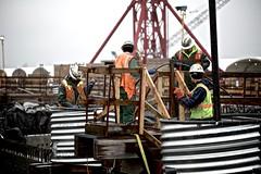 Closure pour in progress (WSDOT) Tags: th wsdot washingtonstatedepartmentoftransportation kiewit bridgeconstruction pontoon floatingbridge sr520 stateroute520 aberdeen ironworker sr520pontoons cycle4