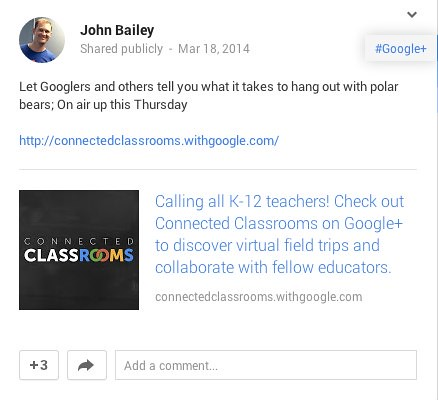John Bailey shares Google Connected Clas by Wesley Fryer, on Flickr