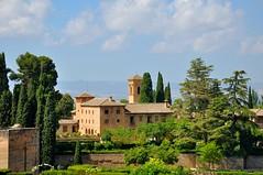 Granada : La Alhambra   - 2/2 (Pantchoa) Tags: espaa andaluca spain nikon day cloudy alhambra granada nikkor andalusia cypresses andalousie d90 18105f3556