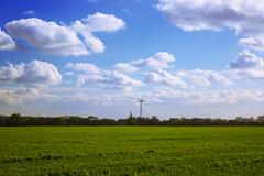 Irlam Fields, Manchester (jonnyevans1) Tags: blue sky green nature field grass clouds canon landscape manchester filter cpl irlam 600d