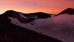 Pre-Dawn Glow (blue polaris) Tags: park new snow sunrise landscape volcano track mt crossing mount zealand alpine national summit tongariro ngauruhoe