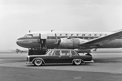 Mercedes-Benz 600 (W100) (Rick Bruinsma) Tags: classic vintage mercedes benz airport perfect retro lufthansa classy stance haters perfectstance