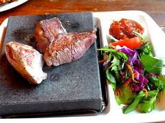Papakura, South Auckland, New Zealand (Sandy Austin) Tags: newzealand food salad video beef auckland steak lamb northisland hotstone southauckland sandyaustin panasoniclumixdmcfz40