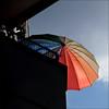finally....... (me*voilà) Tags: summer house umbrella balcony diagonal onblue