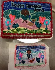 Kid's Drawing (Freehand) (Ashanty Barrios) Tags: chicago drawing freehand buttercream kidscake marianosfreshmarket