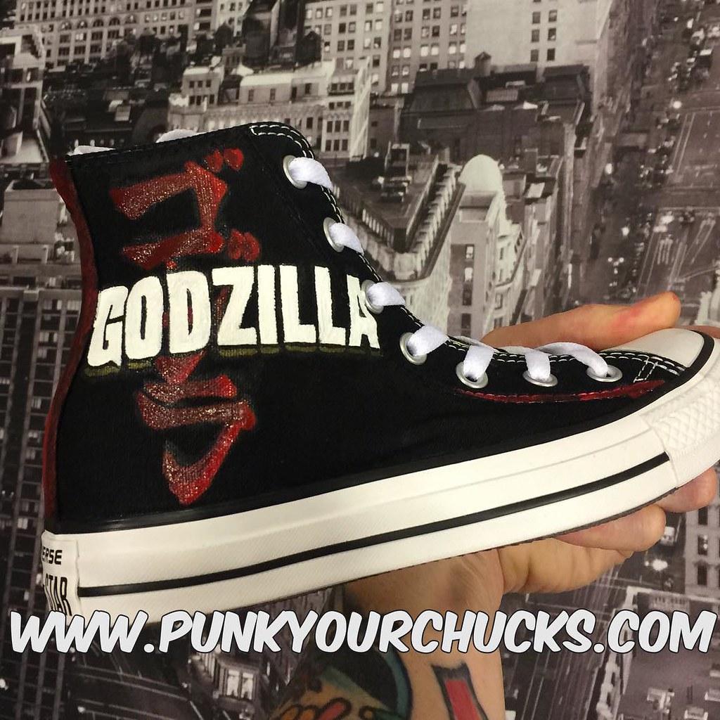 ca322f404f6f Custom Godzilla Chuck Taylors by MAG from Punk Your Chucks! (punkyourchucks)  Tags
