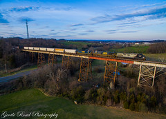 Stranger in a strange land (grady.mckinley) Tags: ac44c6m norfolk southern csx clinchfield boone creek trestle tennessee