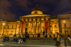 The National Gallery (trevorhicks) Tags: london national gallery night sky building steps people winter canon 6d tamron nude