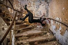 Urbex free climbing (Batram) Tags: urbex hotel levitation schweben girl sexy model stairs circular wendeltreppe