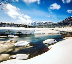 A Snowy View (UniquelyHis4ever) Tags: snow snowday river longshutterspeed bluesky tahoe skiing winter majestic adventure explore