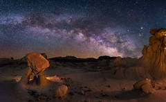 The Two Legged Hoodoo (Wayne Pinkston) Tags: valleyofdreams badlands newmexico newmexicobadlands desert wilderness hoodoo twoleggedhoodoo night sky nightsky nightphotography nightlandscape nightscape waynepinkston lightcrafter lightcraftercom waynepinkstonphotocom stars starrynight starscape milkyway galaxy cosmos theheavens astrophotography nikon landscapeastrophotography widefieldastrophotography wideangle longexposure