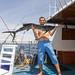 Sailfish (Marlin) at our fishing boat between Racha Noi and Racha Yai islands, Phuket, Thailand