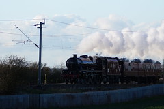45699 galatea (tombrown3189) Tags: jubilee 5v42 carnforth southall light engine move steam milton bank northamptonshire wcml west coat railway company coast main line