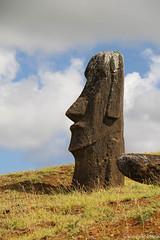 Moai Giant (fuzzball5) Tags: easter island moai head rapa nui rano raraku chile tufa volcanic ash quarry gate 1 2017