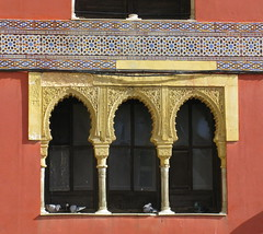 Three Moorish arches:  Córdoba, Andalucía, Spain (Spencer Means) Tags: dwwg arch moorish tile cordóba cordova spain andalucía andalusia