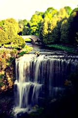 Webster Falls (TAG Fotografie) Tags: lighting morning bridge sunset shadow sun ontario canada water sunshine lens early waterfall shine wasserfall sony shift falls alpha dundas 55 tilt webster kanada tiltshift standart