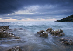 'Knuckles' - White Beach, Anglesey (Kristofer Williams) Tags: longexposure sea seascape water clouds landscape movement rocks le cloudscape knuckles whitebeach anglesey fedwfawr