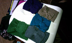 Bow headbands (amandidahlah) Tags: knitting knit projects