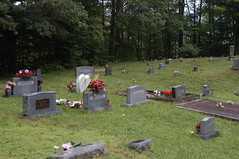 Paternal grandparents' grave area from opposite side (Lee Bennett) Tags: cemetery grave death franklin bury north carolina tippett
