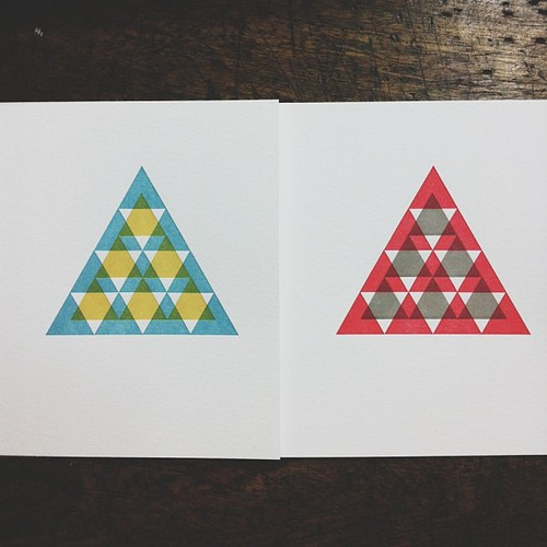 Reprint triangle cards in new color ways