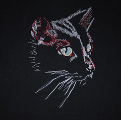 YOL9T sixth (carol powell) Tags: cats art thread illustration cat blackcat drawing embroidery sewing carol powell yol9t