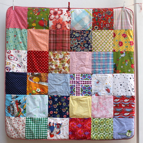 Patchwork quilt made from...