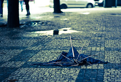 Lost umbrella (Asia Piasny) Tags: street art photography foot photo artwork asia shoot prague flood photos praha praga shooting shoots fotografia zdjecia photographyart fotki fotky powd foty zdjcia sztuka piasny