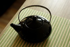 ..    (naturaliZka) Tags: stilllife reflection peace teapot     teapotwithlid blackteapot  somedrops