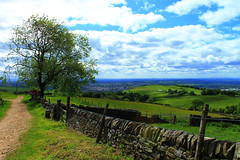 Blue Skies & Green Fields (ThisisNadia) Tags: uk blue wild summer england tree green slr nature beauty canon fence landscape photography countryside view bright britain ngc sunny stunning farms miles teggsnose thisisnadia