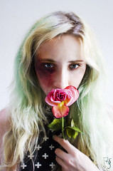 Bruises and Blossoms (Paula Ohmann) Tags: flower girl rose hurt escape blossoms cant relationship violence bruise abuse bruised bruises abusive