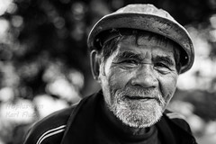 it takes time (karlhans) Tags: old portrait white man black character philippines cebu filipino linotot