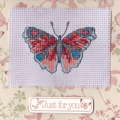 Country Diary (VickieDesignsCS) Tags: butterfly crossstitch embroidery sewing crafts card