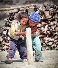 Children of Phu (Dirk Deckx) Tags: nepal people mountains trekking children himalaya phu