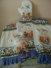 kit de cozinha  de vaquinha (Costura com Arte .) Tags: de casa pano porta decoração prato mão cozinha bate bordado luva puxasaco panodeprato kitdecozinha