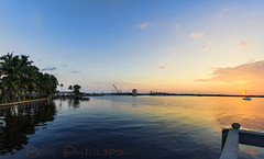 Matlacha Sunrise (tropicdiver) Tags: usa gulfofmexico clouds sailboat sunrise florida palmtrees matlacha pineisland pineislandsound