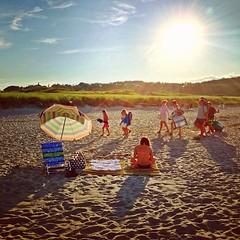 Crane Beach Procession (BradKellyPhoto) Tags: summer beach square squareformat hudson ipswich cranebeach massachusettes iphoneography instagramapp uploaded:by=instagram foursquare:venue=50ce94d6e4b0b76ce36044a1