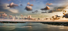 Soul Food (Susan Hall Frazier) Tags: sunset summer sky gulfofmexico colors weather clouds dynamic florida scenic atmosphere august cloudscape humidity heavenonearth waterscape soulfood isladelsol stpetersburgflorida summerscape bocaciegabay gulfintracoastalwaterway bestofblinkwinners blinksuperstars