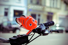 Dring Dring 7 Nemo (@YannGarPhoto) Tags: fish berlin bike bicycle germany scary aperture nikon focus dof nemo bokeh map clown ring f mm nikkor 18 35 poisson allemagne vlo flou ouverture dring effrayant sonnerie sonnette d5000 yanngar