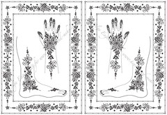 Version 1 of two Mehendi designs using Hungarian embroidery elements (olga_rashida) Tags: berlin art design hands graphic computergenerated kunst arabic bodypainting henna mehendi template mehndi hände hennatattoo fus mehandi henné körperbemalung نقوش naksh hennapattern khidab حنة hennamalerei hennamotive httpwwwhennaundmehrde hennamehndidesign mehndipattern motifpourlatatouageauhenné motifpeinturecorporelle vorlagefürmehendi vorlagefürhennamalerei dessinhenné