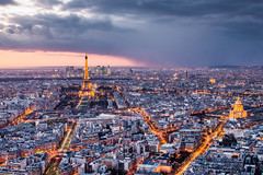 Goodnight Paris (Philipp Gtze) Tags: city storm paris tower rain night cityscape tour eiffel eiffelturm montparnasse