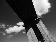 beneath (jonny violence yeah?) Tags: blackandwhite bw newcastle architechture bridges panasonic highlevelbridge gf1
