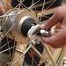 Public Bike: taking off a tire