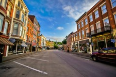 Main Street Galena (Doug Wallick) Tags: street morning sunrise reflections illinois angle main wide historic hdr galena mygearandme mygearandmepremium mygearandmebronze mygearandmesilver