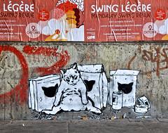 HH-Stencil 607 (cmdpirx) Tags: street urban color colour art public cutout painting fun one graffiti stencil paint artist space raum kunst strasse hamburg humor can spray crew layer multiple hh aerosol farbe künstler schablone öffentlicher
