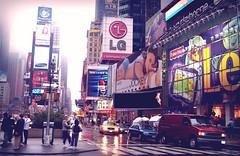 Times Square '03 (Foggy Day) (hobbitbrain) Tags: nyc usa newyork fog america manhattan timessquare pepsi bigapple
